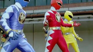 getlinkyoutube.com-Power Rangers Dino Thunder - Power Rangers vs Evil White Ranger (First Battle)
