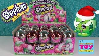 getlinkyoutube.com-Exclusive Metallic Shopkins Christmas Baubles Ornaments Full Box | PSToyReviews