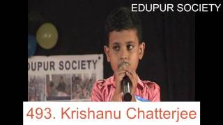 Singing by Krishanu Chatterjee