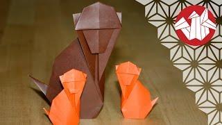 getlinkyoutube.com-Origami - Singe traditionnel - Traditional Monkey [Senbazuru]