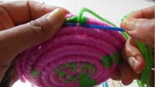 getlinkyoutube.com-Indian basket weaving part 3 creating the pattern @catrionaakacat
