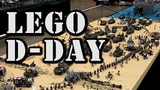 getlinkyoutube.com-Epic LEGO WWII D-Day Normandy Omaha Beach by Brickmania