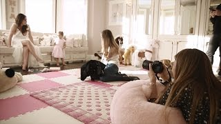 Behind the scenes of Tamara Ecclestone's breastfeeding photoshoot.