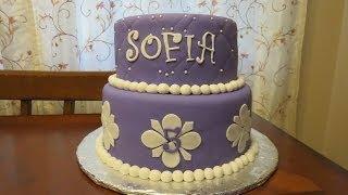getlinkyoutube.com-How to Decorate a Princess Sofia Fondant Cake