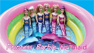 getlinkyoutube.com-เจ้าหญิงบาร์บี้ ใส่ชุด นางเงือก เล่นน้ำ สระเป่าลม คลายร้อน barbie mermaid