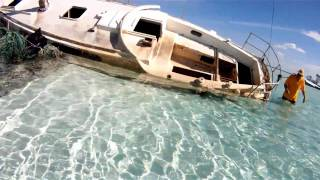 "getlinkyoutube.com-""CKflyer"" Explores  Abandoned Sailboat  at Andros Island in  HD"