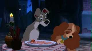 Lady And The Tramp   Bella Notte Famous Spaghetti Scene