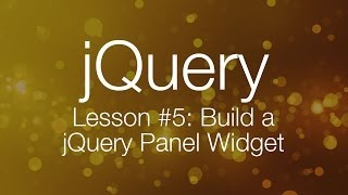 getlinkyoutube.com-jQuery Tutorial #5 - Building a jQuery Tab Panel Widget