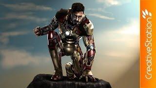 getlinkyoutube.com-Iron Man - Speed painting (#Photoshop) | CreativeStation