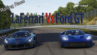 гонки ford gtr и ламборджини