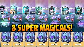 OPENING ALL SUPER MAGICAL CHESTS! Clash Royale BEST LEGENDARY CARDS CHEST OPENING!!