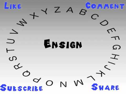 How to Say or Pronounce Ensign