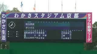 getlinkyoutube.com-Bs vs L オープン戦スタメン発表 2015/03/08 わかさスタジアム京都