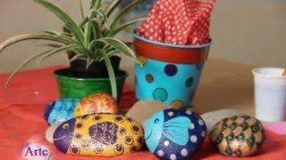 getlinkyoutube.com-Cómo decorar y pintar piedras con esmalte acrílico