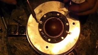 getlinkyoutube.com-RCF TW200 100 Reparatur Repair Driver Treiber Horn Diaphragma
