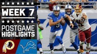 getlinkyoutube.com-Redskins vs. Lions (Week 7) | Game Highlights | NFL