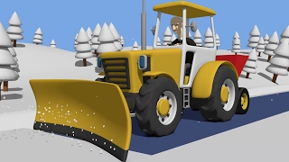 getlinkyoutube.com-Tractor fairy tale for Kids and Snow | Winter | Traktorek Dla Dzieci - Na Ratunek Autku