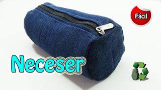 getlinkyoutube.com-163. Manualidades: Neceser o estuche escolar con jeans (Reciclaje) Ecobrisa.