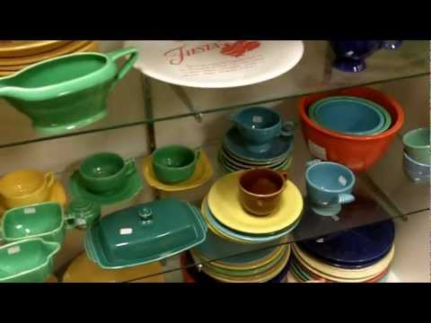 Fiesta dinnerware vintage Fiestaware china inside our antiques mall.
