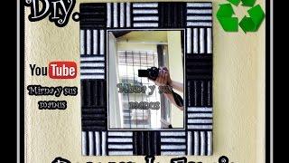 getlinkyoutube.com-Diy Decorando un Espejo con carton Mirna y sus manus .Decorating a mirror with egg carton