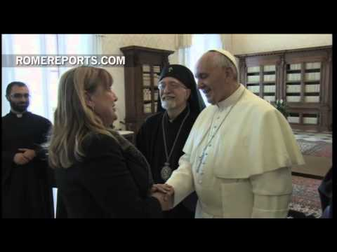 Pope meets with Armenian Patriarch at the Vatican