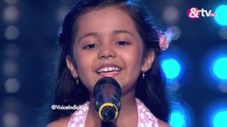 Ayat Shaikh - Blind Audition - Episode 1 - July 23, 2016 - The Voice India Kids width=