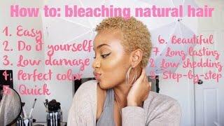 getlinkyoutube.com-Natural Hair Tutorial: Bleaching/Retouching Natural Hair Blonde!