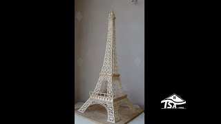 How to make an Eiffel tower with sticks
