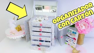getlinkyoutube.com-Organizador de cartón/manualidades con reciclaje*manualidades originales