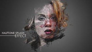 getlinkyoutube.com-Halftone Splash Effect - Photoshop Tutorial