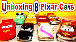 getlinkyoutube.com-Unboxing 8 Pixar Cars from Disney Pixar Cars and Cars 2
