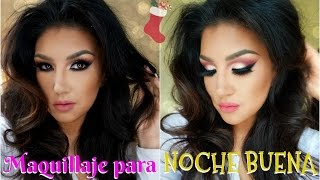 getlinkyoutube.com-Maquillaje para NOCHE BUENA estilo ARABE + Peinado / Holiday Makeup tutorial   auroramakeup