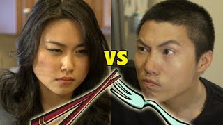 getlinkyoutube.com-Chopsticks vs. Forks