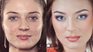 getlinkyoutube.com-Вечерний макияж на проблемной коже. Пошаговое обучение! Makeup Tutorial (Урок №8)