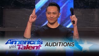 Demian Aditya: Escape Artist Risks His Life During AGT Audition - America's Got Talent 2017 width=