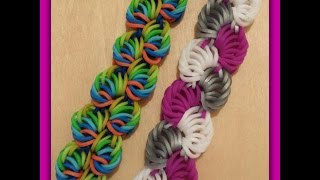 "getlinkyoutube.com-New "" Sorbet Delight "" Hook Only Rainbow Loom Bracelet/ How To Tutorial"
