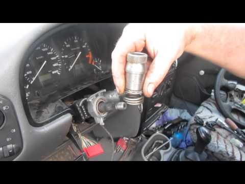Как снять руль и замок зажигания фольксваген кадди II