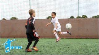 getlinkyoutube.com-Learn Rainbow Flick - Kids Neymar football soccer skills - STRskillSchool LittleSTRs