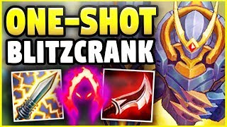 INSTANT ONE-SHOT BLITZCRANK! ONE HOOK = ONE KILL! (ACTUALLY BROKEN!) - League of Legends