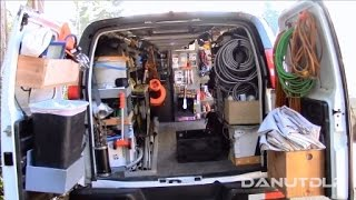 getlinkyoutube.com-Construction Work Van Shelves, Layout and Organization