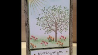 Stampin Up Sheltering Tree Card Tutorial
