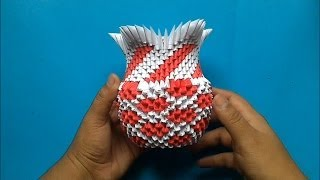 getlinkyoutube.com-Origami 3D Florero