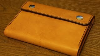 getlinkyoutube.com-Making a Leather Notebook Cover