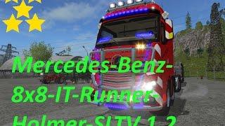 getlinkyoutube.com-Mod Vorstellung Farming Simulator Ls17:Mercedes-Benz-8x8-IT-Runner-Holmer-SLT V 1.2