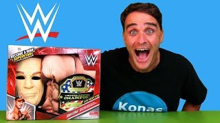 getlinkyoutube.com-John Cena WWE Become A SuperStar Costume !     Toy Review    Konas2002