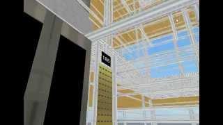 getlinkyoutube.com-Elevators @ Simple-Gen4-300 Floors