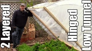 getlinkyoutube.com-EZ Winter Gardening with 2 Layered Hinged Low Tunnel