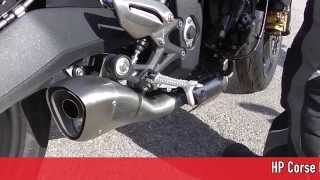getlinkyoutube.com-TWO Incredible Sounds: HP Corse Exhaust Triumph Street Triple