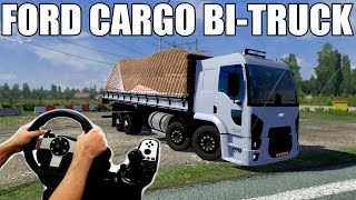 getlinkyoutube.com-Euro truck simulator 2 - Ford Cargo 1932 bitruck na verdura, LogitechG27