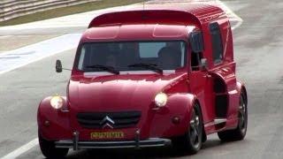 getlinkyoutube.com-2CV Nimik - Ferrari F355 V8 Engine w/ Capristo Exhaust REVS SOUND!!!